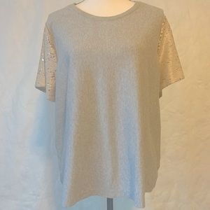 A New Day Grey T-Shirt- sweatshirt with Sequins